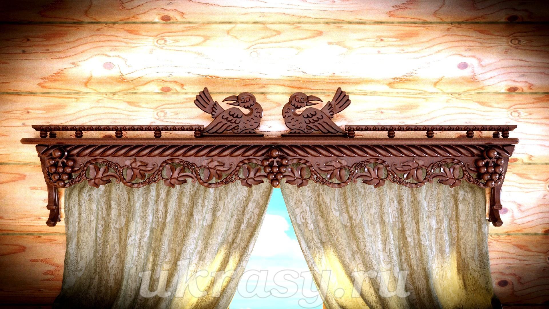 Карниз деревянный для штор