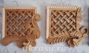 Деревянные решетки на вентиляцию