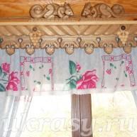 Резной карниз на окно Виноградный