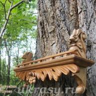 Деревянная полочка с Белочками - кронштейнами