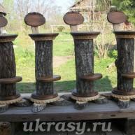Барные стулья с корой бархата