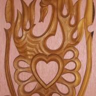 """Панно деревянное """" Лебединная верность"""""""