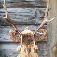 Подставка под рога изюбра (охотничий трофей)