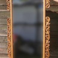 Зеркало прямоугольное в резной деревянной раме из ореха