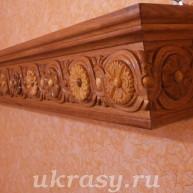 """Карниз деревянный  для штор """"Цветочная поляна"""""""