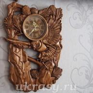 """Деревянные часы на стену """"Совушка"""""""