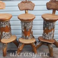 Барный стул из ствола бархата Амурского