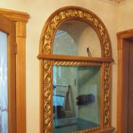 Наличник деревянный на аквариум с резьбой ценных видов древесины (рама)