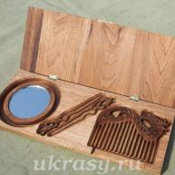 Подарочный набор для девушки из ценных пород древесины