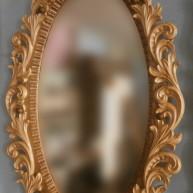 Зеркало овальное резное