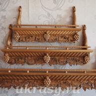 Прямые деревянные полки под иконы