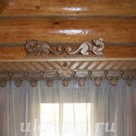 Карниз деревянный на окно