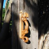 Деревянная дверная ручка Соболь