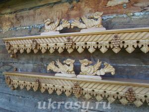 Деревянные резные карнизы для штор
