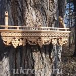 Резная деревянная полка под иконы (10)