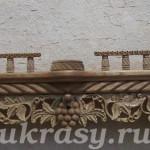 Деревянная резная полка под иконы