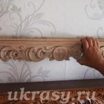Резная деревянная полка для икон Трава-мурава