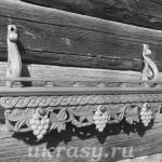 Полочка под иконы Виноградная лоза 15