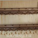 Резные деревянные полочки под иконы из ореха