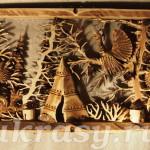 Ремонт деревянного резного панно.