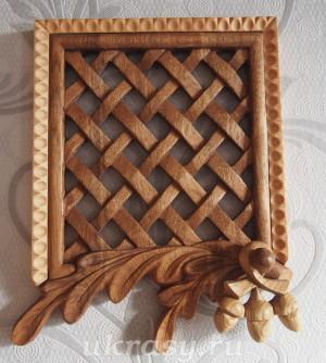 """Вентиляционная деревянная решетка """"Дубовая"""""""