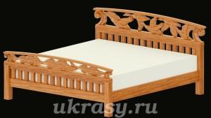 Деревянная кровать с резными спинками (проект)
