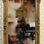 "Резная деревянная рама для зеркала ""Цветы Амура"" (проект)"