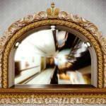 """Резное деревянное зеркало """"Амурское царство"""""""