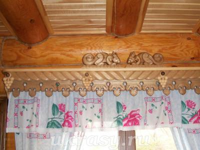 Урок резьбы по дереву. Вырезаем оконный карниз для штор своими руками.