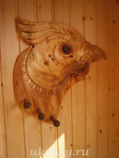 """Резная деревянная вешалка """"Амурский рябчик"""" - своими руками  Урок."""